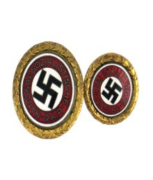 German WWII NSDAP Gold Party Badges