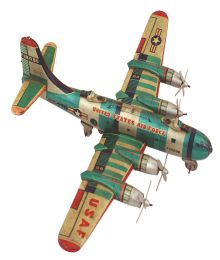 Japanese toy model of a US WWII B-29